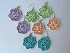 Quilling Earrings Fans and Circles by BarbarasBeautys on Etsy, $13.00