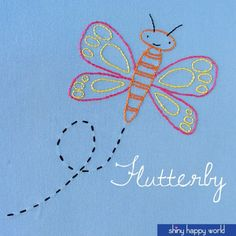Flutterby – a free butterfly embroidery pattern