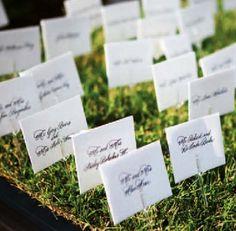 unique place cards | Unique Wedding Place Card Ideas - Paperblog