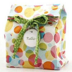 Holiday Pattern for fabric gift bag