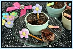 Flower Pot Cakes by Back For Seconds   #dirt #chocolate #cupcakes #flowers #party Chocolate Cupcakes, Mothers Day, Pot Cake, Coconut Milk, Flower Pots, Kid Parties, Chocolate Cakes, Cream Cheese Frosting, Edible Flowers