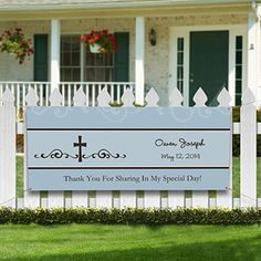 Cherish your child's big day with the Precious Prayer Personalized Banner. Find the best personalized First Communion gifts at PersonalizationMall.com