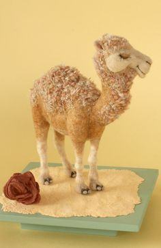 Needle Felted Camel by Yoomoo felt camel