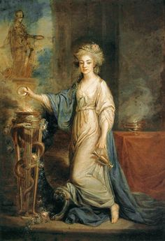 Portrait of a Woman as a Vestal Virgin  Angelica Kauffmann