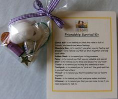I love this <3    Friendship Survival Kit  Cute gift for your by heart2homepromo