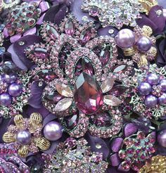 amethyst brooch bouquet...