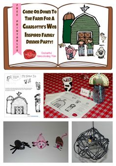 Charlotte's Web Storybook Decorations For Your Family Dinner Table from Enchanted Homeschooling Mom