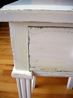 distressing furniture + just found another blog to love!