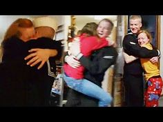 U.S. Navy Sailor Surprises His Six Siblings, Then Mom and Dad