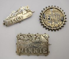 Victorian Silver Name Brooches from Spectrum at Grays - www.graysantiques.com.
