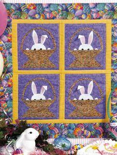 Bunnies in a Basket Baby Quilt