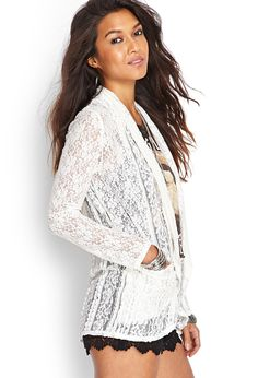 Floral Lace Cardigan | FOREVER21 #Cadigan #Lace #MustHave