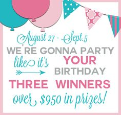 1st prize is $645 in gift cards! Don't miss this awesome giveaway!
