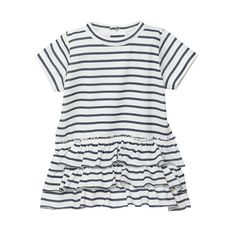 BABY GIRL SAILOR STRIPED DRESS