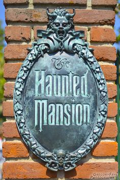 Haunted Mansion Attraction Sign  Photo of: Haunted Mansion Attraction Sign, Disneyland, Anaheim, California