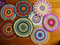 Beautiful crochet mandalas