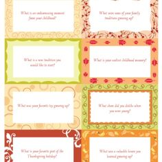 Conversation Starters for Thanksgiving Dinner conversation starters, dinners, fall, holiday idea, thanksgiving, thanksgiv dinner, holiday decor, printabl, convers starter