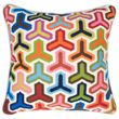 multi bargello hazard pillow perfect for couch