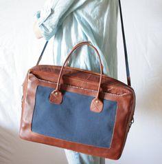 Leather Laptop Bag Padded Leather Laptop Bag Unisex by KaroEva, $155.00