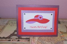 Happy Birthday Red Hat Ladies Society handmade greeting card by AnLieDesigns, $2.00