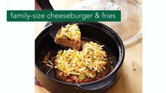 Here's a fun dinner recipe your whole family will love. Family Sized Cheeseburger and Fries made in Pampered Chef's NEW Rockcrok! rock crock, cheeseburgers, pamper chef, famili, dinner recipes, chef recip, pampered chef rockcrock, size cheeseburg, rockcrok recip