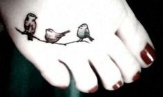 I don't need another bird foot tattoo but this is cute.