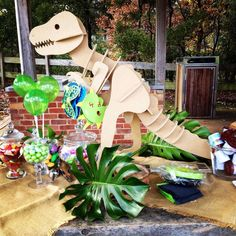Awesome Dinosaur boy birthday party! See more party ideas at CatchMyParty.com!