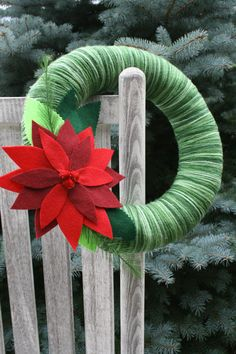 Christmas Yarn Wreath
