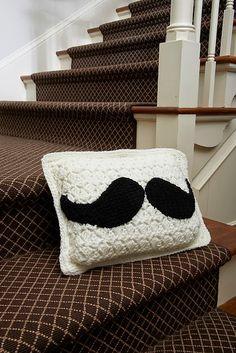 Crochet Pillows ~ 15 FREE Patterns Owl Pillows, Free Pattern, Pillow Patterns, Mustach Pillow, Pattern Owl, Crochet Pillow