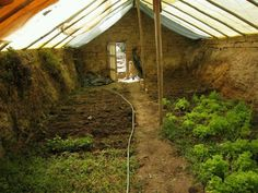 Underground greenhouse idea. Grow veggies 365 days a year