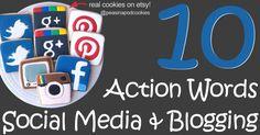 10 Action Words {Social Media & Blogging Tips} www.etsypreneur.com