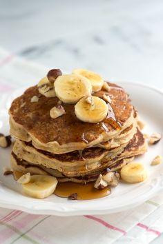 Spiced Buttermilk Banana Pancakes