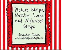 Here's a set of number lines to 10 and 20, alphabet strips (lowercase and uppercase), and a picture strip to teach students how to use a number line/alphabet strip and identify ordinal numbers.