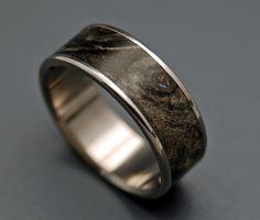Swimming in the Dark  Wooden Wedding Rings by MinterandRichterDes, $197.00