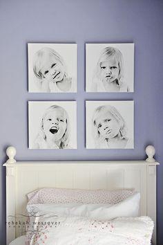 black & white large print photo canvas
