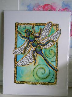 dragonfli print, print fine, art prints, print wall