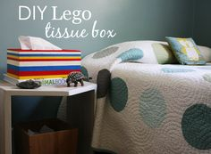 DIY Lego Tissue Box - perfect for the kids room!