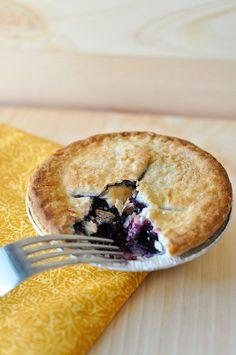 Blueberry-ginger mini pie