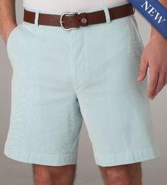 Corded Cotton Shorts  Aqua