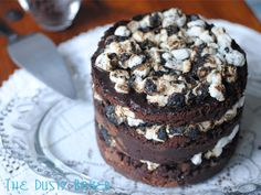 Chocolate Mallow Layer Cake from @Jacqueline - The Dusty Baker