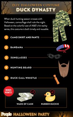 Need a costume idea? How about Duck Dynasty? Get more Halloween fun at PEOPLE.com! http://www.people.com/people/package/quiz/0,,20058392_20739724,00.html