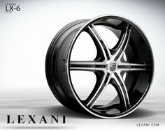 Lexani Wheels, the leader in custom luxury wheels. Wheel Detail - LX-6, part of the LX series.