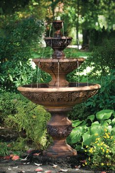 A steady stream of water flowing from Sonoma's three tiers makes this fountain the perfect focal point for any home or garden. | Frontgate: Live Beautifully Outdoors