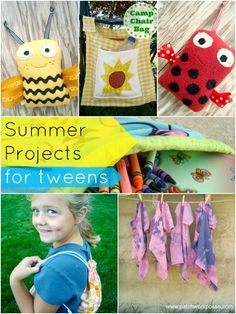15  Summer Projects for Kids | patchworkposse #freepatterns #kidscrafts #summer