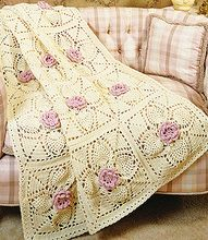 Roses & Pineapples Afghan Crochet Pattern ePattern.  Downloadable 4.99 e-pattern.  I need to try this.  Purdy.