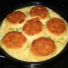 pot pies, biscuit, friend