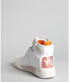 Y-3 White Perforated Leather Hayworth High Top Sneakers in White for Men - Lyst