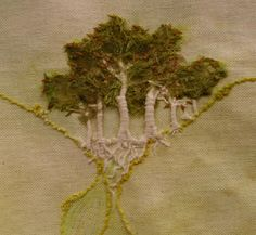 ❤ it . . . Embroidered Trees ~By Francine Leclercq