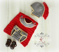 Ravelry: Newborn Gladiator/Roman/Greek/Spartan Warrior Outffit pattern by Briana K Crochet