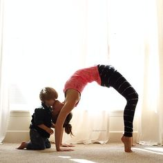 Upward-Facing Bow Kisses. #yoga